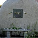 View of Fidel Castro's tomb at the Santa Ifigenia cemetery in Santiago de Cuba on December 4, 2016.  Fidel Castro's ashes were buried alongside national heroes in the cradle of his revolution, as Cuba opens a new era without the communist leader who ruled the island for decades. / AFP / YAMIL LAGE        (Photo credit should read YAMIL LAGE/AFP/Getty Images)