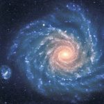 """This spectacular image of the large spiral galaxy NGC 1232 was obtained on September 21, 1998, during a period of good observing conditions. It is based on three exposures in ultra-violet, blue and red light, respectively. The colours of the different regions are well visible : the central areas contain older stars of reddish colour, while the spiral arms are populated by young, blue stars and many star-forming regions. Note the distorted companion galaxy on the left side, shaped like the greek letter """"theta"""". NGC 1232 is located 20A¬â?« south of the celestial equator, in the constellation Eridanus (The River). The distance is about 100 million light-years, but the excellent optical quality of the VLT and FORS allows us to see an incredible wealth of details. At the indicated distance, the edge of the field shown corresponds to about 200,000 light-years, or about twice the size of the Milky Way galaxy. The image is a composite of three images taken behind three different filters: U (360 nm; 10 min), B (420 nm; 6 min) and R (600 nm; 2:30 min) during a period of 0.7 arcsec seeing. The field shown measures 6.8 x 6.8 arcmin. North is up; East is to the left. #L"""