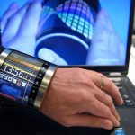 A flexible screen that fits the wrist by Flexenable is presebted on the last day of the Mobile World Congress in Barcelona on February 23, 2016.  The world's biggest mobile fair, held from February 22 to February 25. / AFP / LLUIS GENE        (Photo credit should read LLUIS GENE/AFP/Getty Images)