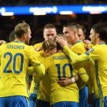 Football Soccer - Sweden v Belarus - 2018 World Cup Qualifiers European Zone - Friends Arena, Solna, Sweden - 25/03/17. Sweden's Emil Forsberg celebrates scoring. Fredrik Sandberg/TT News Agency via REUTERS     ATTENTION EDITORS - THIS IMAGE WAS PROVIDED BY A THIRD PARTY. FOR EDITORIAL USE ONLY. NOT FOR SALE FOR MARKETING OR ADVERTISING CAMPAIGNS. THIS PICTURE IS DISTRIBUTED EXACTLY AS RECEIVED BY REUTERS, AS A SERVICE TO CLIENTS. SWEDEN OUT. NO COMMERCIAL OR EDITORIAL SALES IN SWEDEN. NO COMMERCIAL SALES.