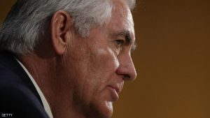 WASHINGTON, DC - JANUARY 11: Former ExxonMobil CEO Rex Tillerson, U.S. President-elect Donald Trump's nominee for Secretary of State, testifies during his confirmation hearing before Senate Foreign Relations Committee January 11, 2017 on Capitol Hill in Washington, DC. Tillerson is expected to face tough questions regarding his ties with Russian President Vladimir Putin. (Photo by Alex Wong/Getty Images)