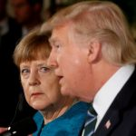 Germany's Chancellor Angela Merkel and U.S. President Donald Trump hold a joint news conference in the East Room of the White House in Washington, U.S., March 17, 2017. REUTERS/Jonathan Ernst     TPX IMAGES OF THE DAY