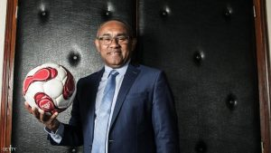 Ahmad Ahmad, incumbent President of Malagasy Football Federation poses during a photo session at his office in Antananarivo on February 13, 2017. / AFP / RIJASOLO (Photo credit should read RIJASOLO/AFP/Getty Images)