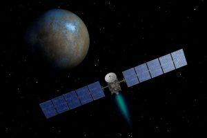 NASA's Dawn spacecraft heads toward the dwarf planet Ceres as seen in this undated artist's conception released January 22, 2014. The Dawn science satellite on Friday will wrap on a 7.5-year journey to Ceres, an unexplored dwarf planet in the main asteroid belt between Mars and Jupiter, scientists said on Monday. REUTERS/NASA/JPL-Caltech/Handout via Reuters (OUTER SPACE - Tags: SCIENCE TECHNOLOGY) THIS IMAGE HAS BEEN SUPPLIED BY A THIRD PARTY. IT IS DISTRIBUTED, EXACTLY AS RECEIVED BY REUTERS, AS A SERVICE TO CLIENTS. FOR EDITORIAL USE ONLY. NOT FOR SALE FOR MARKETING OR ADVERTISING CAMPAIGNS