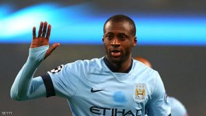 MANCHESTER, ENGLAND - NOVEMBER 05:  Yaya Toure of Manchester City celebrates scoring his team's first goal during the UEFA Champions League Group E match between Manchester City and CSKA Moscow on November 5, 2014 in Manchester, United Kingdom.  (Photo by Alex Livesey/Getty Images)
