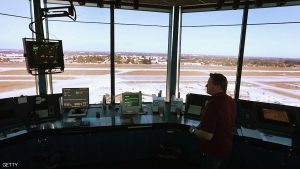 OPA LOCKA, FL - MARCH 04:  Air Traffic Controller, David Spitnale, works in the control tower at Opa-locka airport on March 4, 2013 in Opa-locka, Florida. Due to sequestration cuts, small airports such as Opa-locka, which is a popular spot for corporate jets to land, will close its control tower in April to save federal transportation dollars under the federal spending cuts that went in to affect last week. Even though the control tower will close, planes will still be able to use the airport just without the help from the control tower.  (Photo by Joe Raedle/Getty Images)